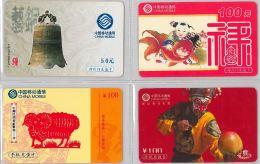 LOT 4 PREPAID PHONE CARD- CINA (E28.25.1 - Cina