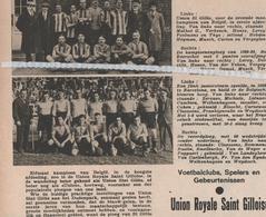 VOETBALSPORT...1938... UNION ROYALE SAINT GILLOISE - Non Classés