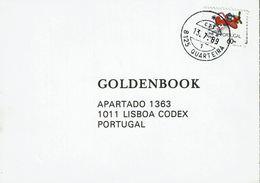 Portugal , 1989 , 8125 Quarteira Postmark , Post Plane  60$00 Stamp - Poststempel (Marcophilie)