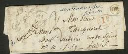 Marne-Lettre Avec Cursive 49 Courgivaux-Pour Paris - Postmark Collection (Covers)