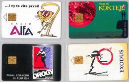 LOT 4 PHONE CARD- REPUBBLICA CECA (E29.9.5 - Czech Republic