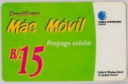 PREPAID PHONE CARD- PANAMA (E30.20.8 - Panama