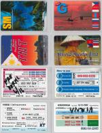 LOT 4 PREPAID PHONE CARD- COREA DEL SUD (E30.28.5 - Korea, South