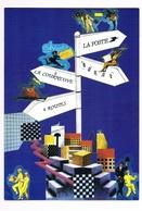 """93 - LA COURNEUVE """"4ROUTES"""" Inauguration Du Bureau De Poste 19 Mai 1989 - Faire-part"""