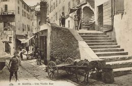 CORSE -BASTIA-VIEILLE RUE-ATTELAGE-ROUE- - Bastia