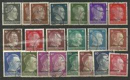 Dt. Bes., 2.WK, Ostland, Nr. 1-20, Gest. - Ocupación 1938 – 45