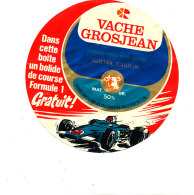 S 884  /  ETIQUETTE DE FROMAGE-   VACHE GROSJEAN  UN BOLIDE DE COURSE FORMULE 1 GRATUIT - Cheese