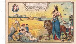 CARD GUERRA 1918 RINASCITA ITALIA TURRITA A DIFESA CONFINI INDUSTRIA AGRICOLTURA NASCITE  2 SCAN -FP-N-2-0882-28303-302 - Weltkrieg 1914-18