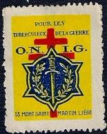 BELGIQUE - LIÉGE - O.N.I.G. - POUR LES TUBERCULEUX DE LA GUERRE. - Postage Labels