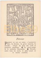 Gravure (reproduction), Le Mois De L'année, Février, De Nicolas Le Rouge, Troyes, 1496, Neuve - Fiabe, Racconti Popolari & Leggende