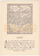 Gravure (reproduction), Le Mois De L'année, Juillet, De Nicolas Le Rouge, Troyes, 1496, Neuve - Fiabe, Racconti Popolari & Leggende