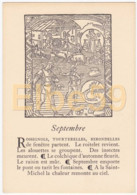 Gravure (reproduction), Le Mois De L'année, Septembre, De Nicolas Le Rouge, Troyes, 1496, Neuve - Fiabe, Racconti Popolari & Leggende