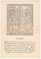 Gravure (reproduction), Le Mois De L'année, Octobre, De Nicolas Le Rouge, Troyes, 1496, Neuve - Fiabe, Racconti Popolari & Leggende