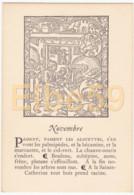 Gravure (reproduction), Le Mois De L'année, Novembre, De Nicolas Le Rouge, Troyes, 1496, Neuve - Fiabe, Racconti Popolari & Leggende