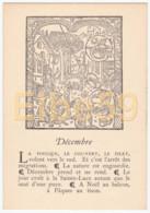 Gravure (reproduction), Le Mois De L'année, Décembre, De Nicolas Le Rouge, Troyes, 1496, Neuve - Fiabe, Racconti Popolari & Leggende