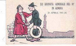 CARD 10°REGG.ALPINO ALLA XII ADUNATA GENERALE GENOVA 1931  2 SCAN -FP-N-2-0882-28304-305 - Reggimenti
