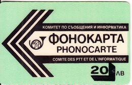 BULGARIA - BTC Magnetic Phonecard 20 Leva(type 1), Used - Bulgaria