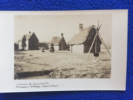 RPPC: Houses & Soup Kettle, Pioneers 'Village, Salem,Mass. Unposted Undivided Back - India