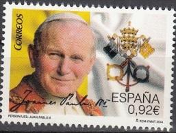 España 2014 Pape Jean-Paul II Neuf ** - 1931-Aujourd'hui: II. République - ....Juan Carlos I
