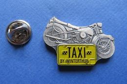 Pin's, TAXI By WINTERTHUR, Harley Davidson, Motorrad, Moto - Transportation