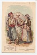 Carte Postale Publicitaire, Collection De La Muscolosine Byla. Grèce, Montagnards De Thessalie Et Arnauta, Albanie A5p44 - Publicidad