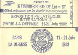 """CARNET 2155-C 1 Sabine De Gandon """"PHILEXFRANCE 82"""" Avec R.E. Fermé Parfait état Bas Prix RARE - Carnets"""