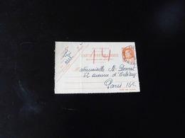 ENTIER POSTAL   CARTE PNEUMATIQUE  3 F  PETAIN TYPE BERSIER   POUR PARIS - Postal Stamped Stationery