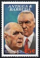 ANTIGUA & BARBUDA - 1v - Neuf - Mint - MNH** - Charles De Gaulle - Konrad Adenauer - De Gaulle (Général)