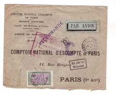 Lettre Madagascar 1933 1934 Recommandée Recommandé Départ Mananjary Majunga Daressalaam Nairobi Brindisi Torino Cachet - Madagaskar (1889-1960)