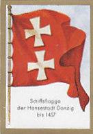 SB04302 Bulgaria Zigarettenfabrik Dresden - Bild 52 Schiffsflagge Der Hansestadt Danzig Bis 1457 - Cigarettes