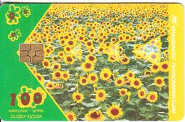 F.Y.R.O.M. - Sunflowers, Chip GEM3.3, Tirage %20000, 11/04, Used - Macedonia