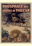 Cave Grotte Postcard Phosphate Des Grottes De Fauzan 1890 - Reproduction - Advertising