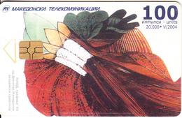 F.Y.R.O.M. - Art Work, Chip GEM3.3, Tirage 20000, 05/04, Used - Macedonia