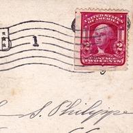 Postal Card Great Falls Montana Shoshone Falls 1908 Idaho USA Bruxelles Belgique George Washington 2 Cents - Verenigde Staten
