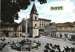 Campania-benevento Piazza Santa Sofia Veduta Fontana Auto Epoca Negozio Tabacchi Giornali Bar Piazza Animata Anni 50/60 - Benevento