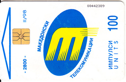 F.Y.R.O.M. - Telecom Logo, Chip GEM1, Tirage 2800, 11/98, Used - Macedonia