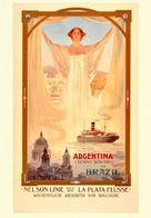 British Navigation Postcard Nelson-Linie Argentina And Brazil 1900 - Reproduction - Advertising