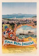 British Navigation Postcard (Royal Mail) Mala Real Inglesa Brasil Y Rio De La Plata 1898  - Reproduction - Advertising