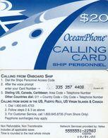 PUERTO RICO - Oceanphone By Itelsa Satellite Prepaid Card $20 Exp.date 31/12/01, Used - Puerto Rico