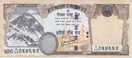 BILLETE DE NEPAL DE 500 RUPIAS DEL AÑO 2012 - TIGRE-TIGER (BANKNOTE) - Nepal