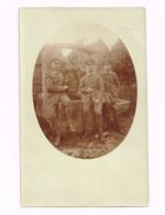 Trois Soldats Allemands Devant Un Puits.WW I - Krieg, Militär