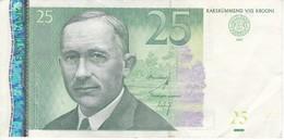 BILLETE DE ESTONIA DE 25 KROONI DEL AÑO 2007 SERIE CK (BANK NOTE) - Estonie