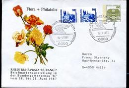 Sost. Frankfurt POSTMUSEUM 1991 Auf Bund PU117 D1/016 ROSEN - Post