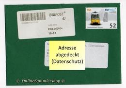 BRD - Privatpost - Umschlag - BW Post - Marke: Straßenbahnwelt Stuttgart - Strassenbahnen