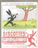 Buvard GRINGOIRE Biscottes  Les Aventures De Gringo N°1 Le Plus Malin Des 2 Illustré Par COQ - Zwieback