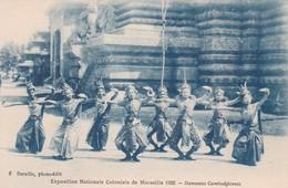 Danseuses Cambodgiennes Exposition Nationale Coloniale De Marseille 1922 Indochine Cambodge Cambodia - Cambodia
