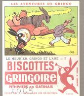 Buvard GRINGOIRE Biscottes  Les Aventures De Gringo N°2 Le Meunier, Gringo Et L'âne Illustré Par COQ - Zwieback