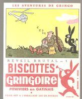 Buvard GRINGOIRE Biscottes  Les Aventures De Gringo N°1 Réveil Brutal Illustré Par COQ - Zwieback