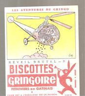 Buvard GRINGOIRE Biscottes  Les Aventures De Gringo N°3 Réveil Brutal Illustré Par COQ - Zwieback