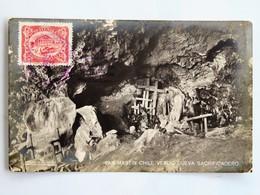 C.P.A. : GUATEMALA : SAN MARTIN CHILE VERDE, Cueva Sacrificadero, 3 Sellos En 1931 - Guatemala